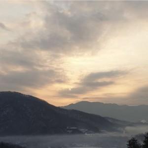 광릉추모공원의 이른아침 풍경